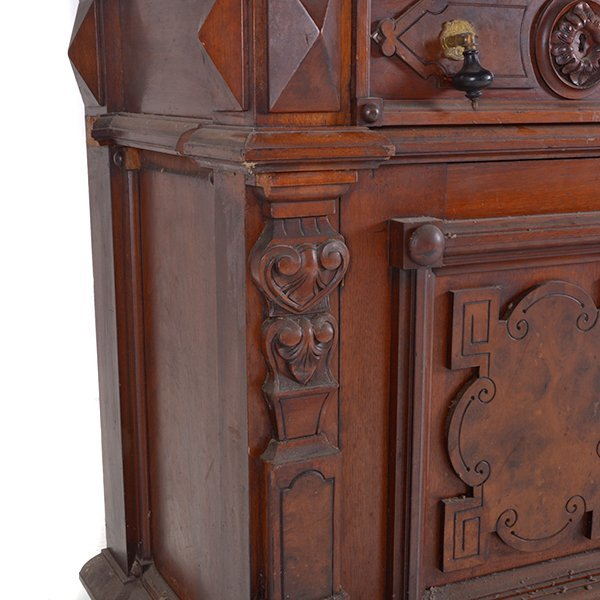 Victorian Renaissance Revival Marble Top Sideboard - 8