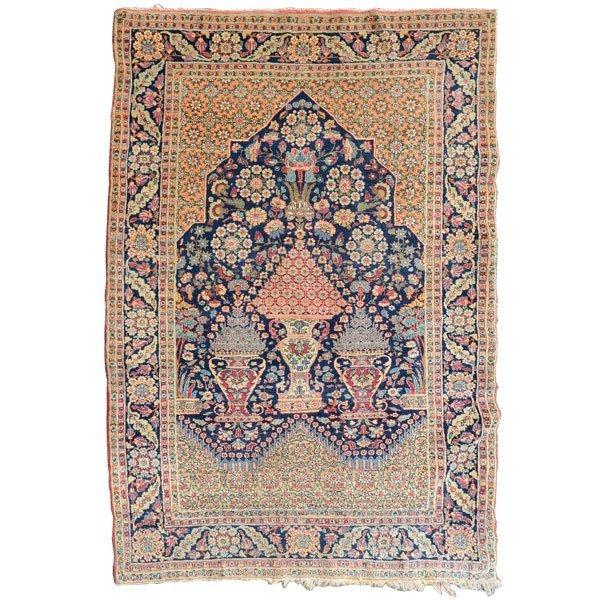 Lavar Kerman Carpet: 4 feet 8 inches x 6 feet 9 inches