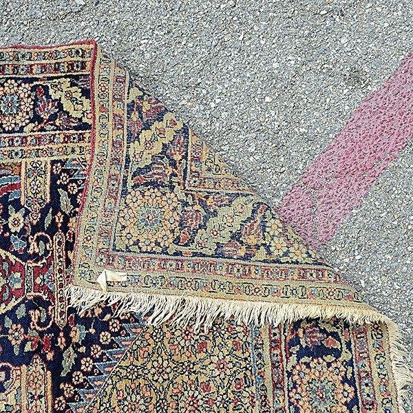 Lavar Kerman Carpet: 4 feet 8 inches x 6 feet 9 inches - 3