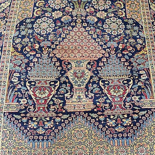 Lavar Kerman Carpet: 4 feet 8 inches x 6 feet 9 inches - 4