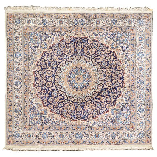 Afghan Carpet: 9 feet 2 1/2 inches x 9 feet 5 inches