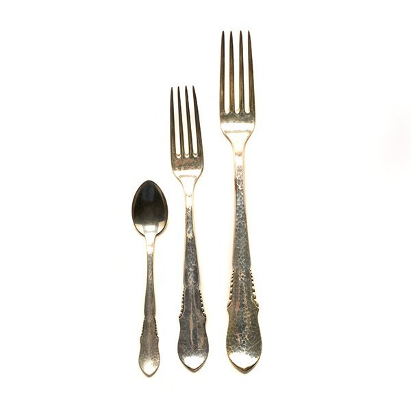 Dutch Sterling Silver Flatware Service
