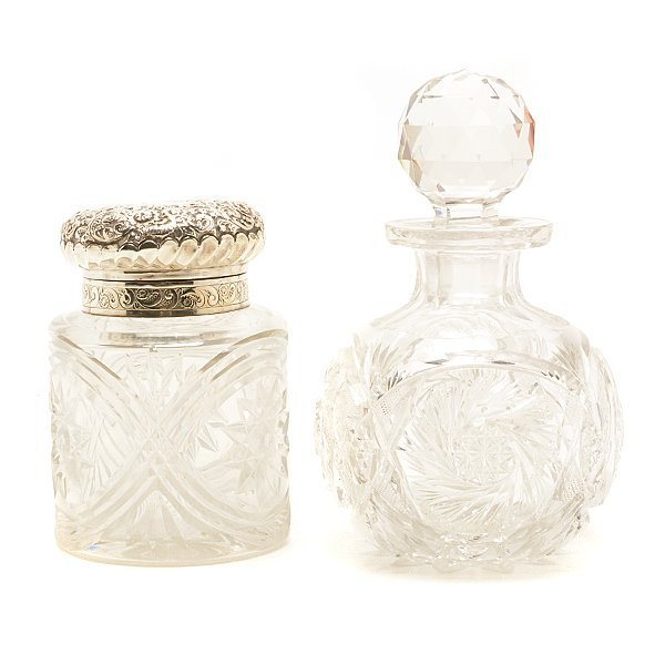 Five Glass Scent Bottles and Eight Match Safes - 2