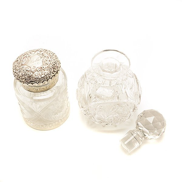 Five Glass Scent Bottles and Eight Match Safes - 3