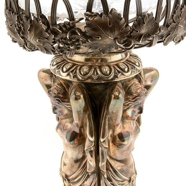 Aesthetic Movement Silver Plated Figural Epergne - 10