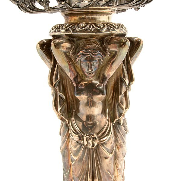 Aesthetic Movement Silver Plated Figural Epergne - 4