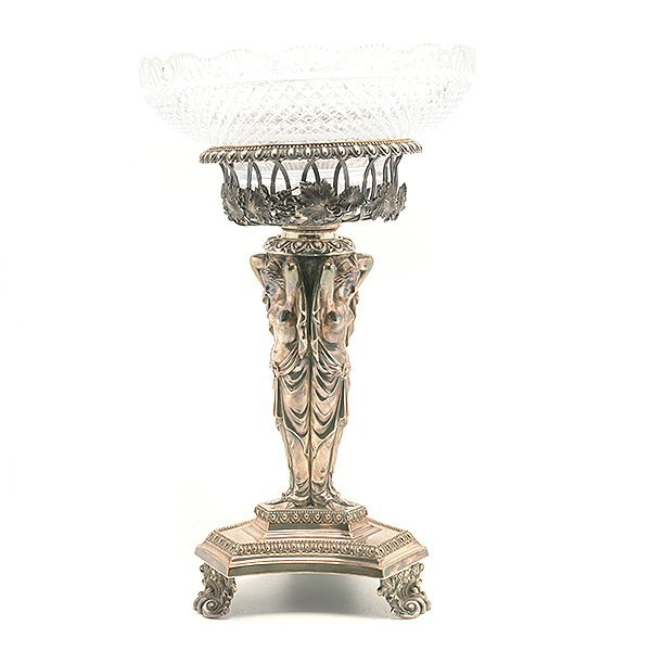 Aesthetic Movement Silver Plated Figural Epergne - 6