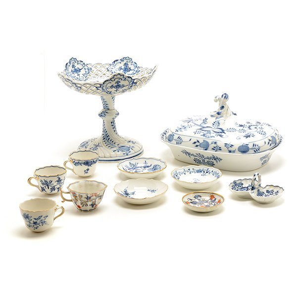 Collection of Meissen Blue Onion Porcelains