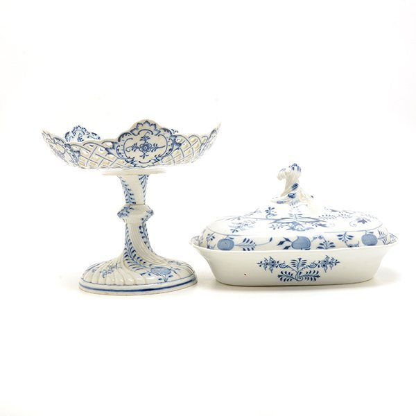 Collection of Meissen Blue Onion Porcelains - 2
