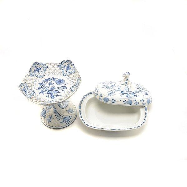 Collection of Meissen Blue Onion Porcelains - 3