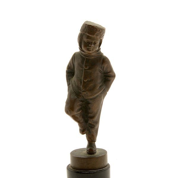 Continental Bronze Figure of a Young Boy - 2