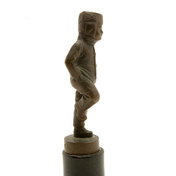 Continental Bronze Figure of a Young Boy - 5