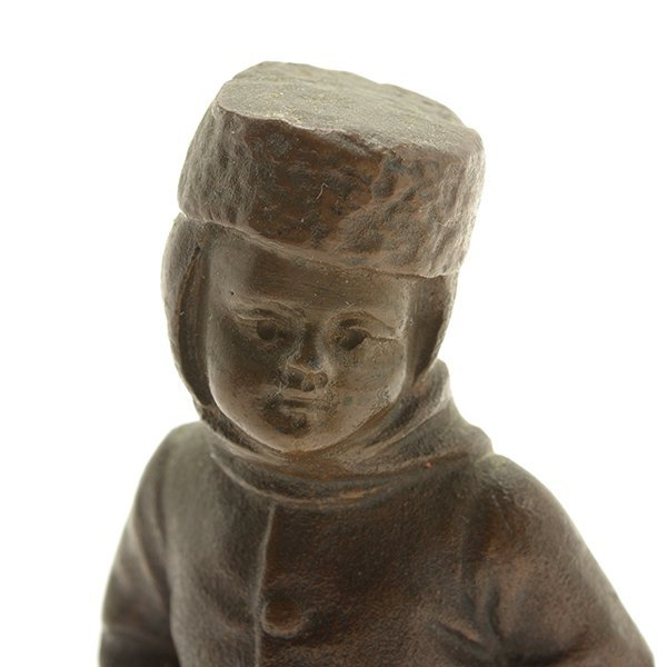 Continental Bronze Figure of a Young Boy - 6