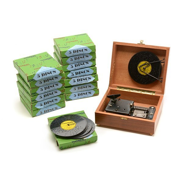 Thorens Swiss Cased Music Box with Discs