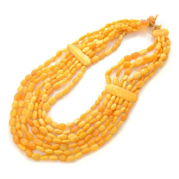 Butterscotch Amber Bead Necklace.
