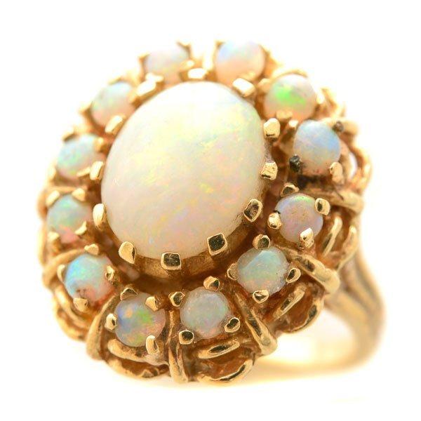 Opal, 14k Yellow Gold Ring.