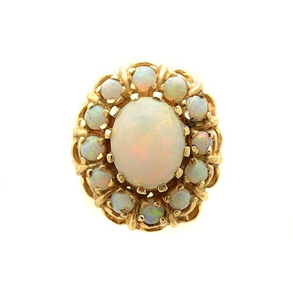 Opal, 14k Yellow Gold Ring. - 2