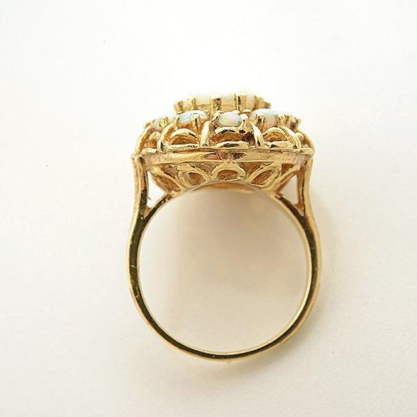 Opal, 14k Yellow Gold Ring. - 3