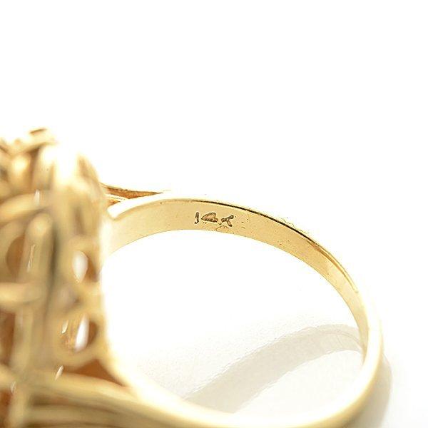 Opal, 14k Yellow Gold Ring. - 4