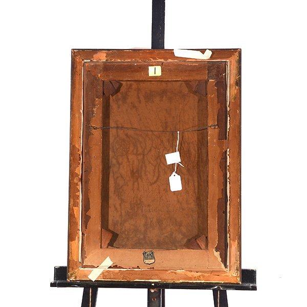 """Edwin Deakin """"Indian Rock"""" oil on canvas - 10"""