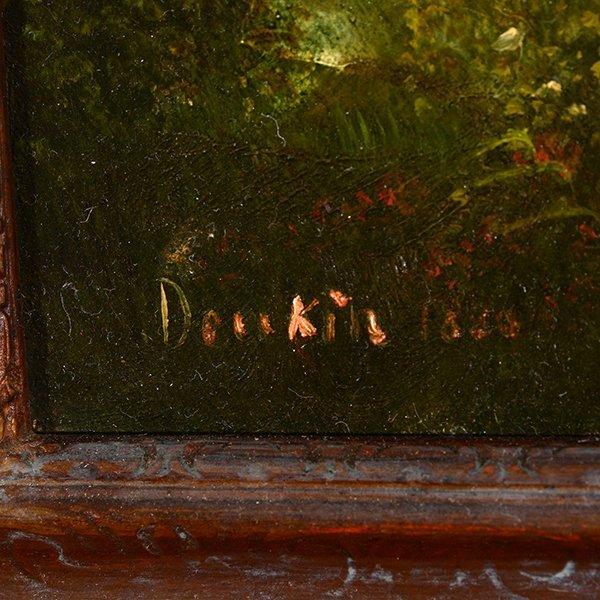 """Edwin Deakin """"Indian Rock"""" oil on canvas - 2"""