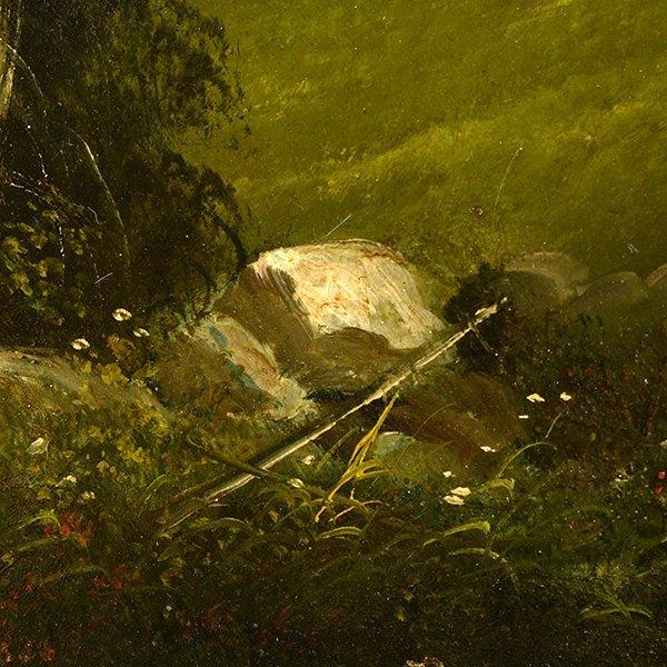 """Edwin Deakin """"Indian Rock"""" oil on canvas - 3"""