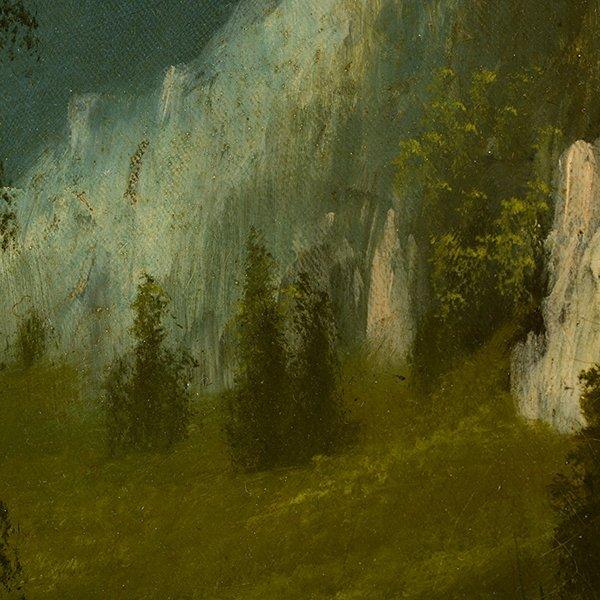 """Edwin Deakin """"Indian Rock"""" oil on canvas - 5"""
