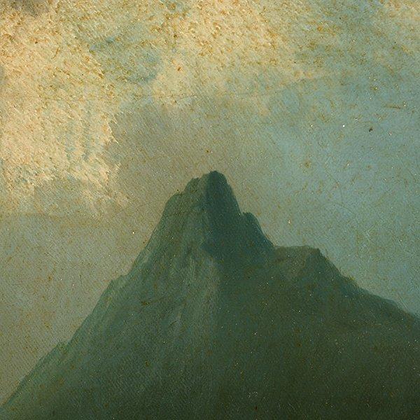 """Edwin Deakin """"Indian Rock"""" oil on canvas - 6"""