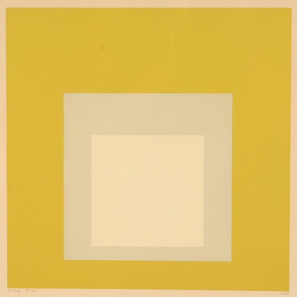 Josef Albers Hommage to the Square, Silkscreen