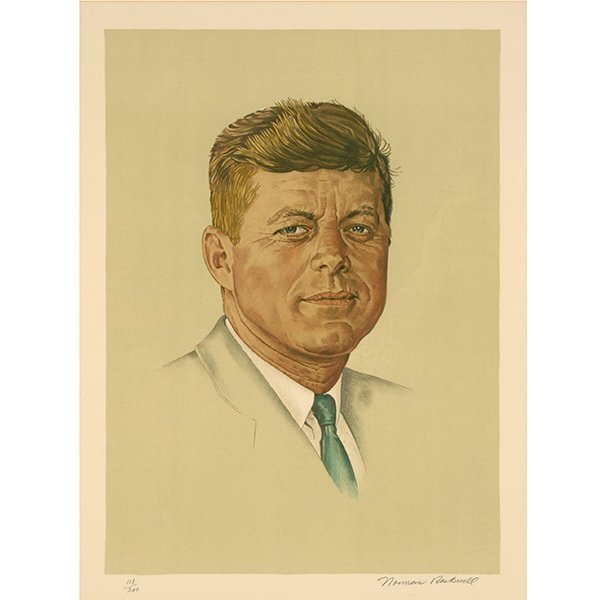 "Norman Rockwell ""John Kennedy"" lithograph"