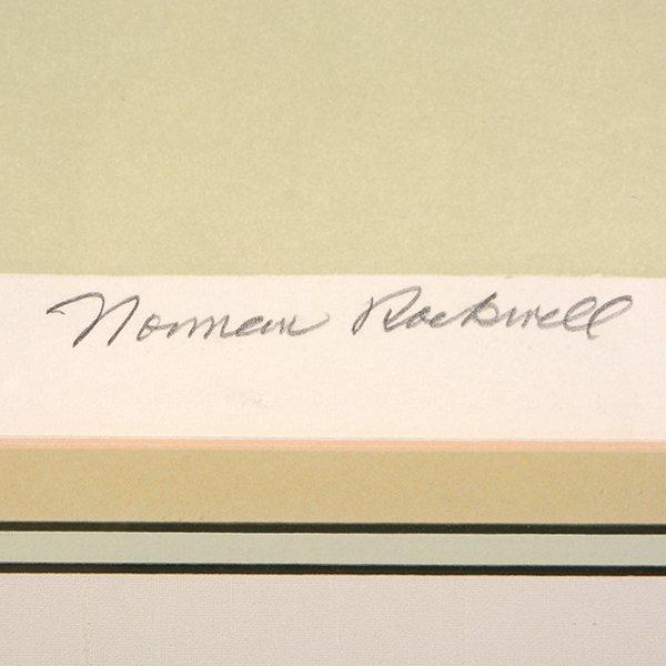 "Norman Rockwell ""John Kennedy"" lithograph - 2"