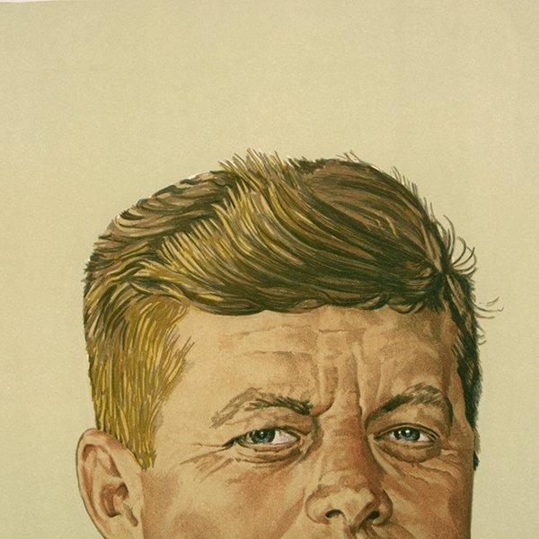 "Norman Rockwell ""John Kennedy"" lithograph - 3"
