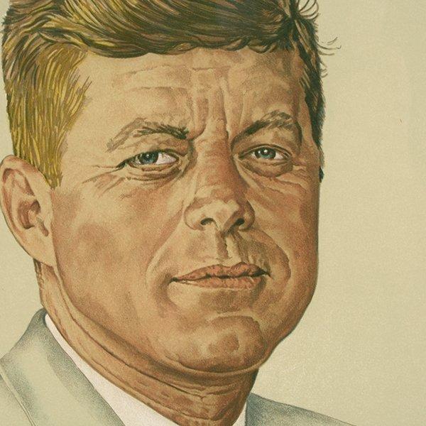 "Norman Rockwell ""John Kennedy"" lithograph - 4"