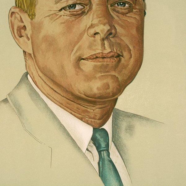 "Norman Rockwell ""John Kennedy"" lithograph - 5"
