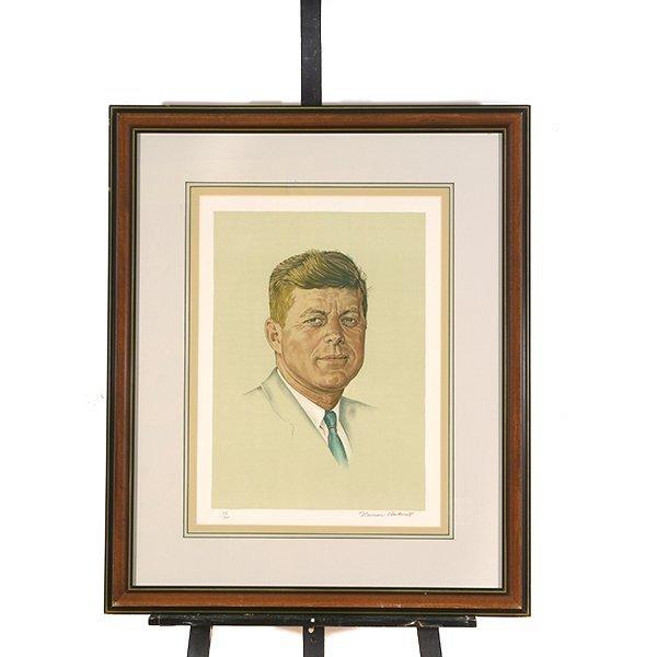 "Norman Rockwell ""John Kennedy"" lithograph - 7"