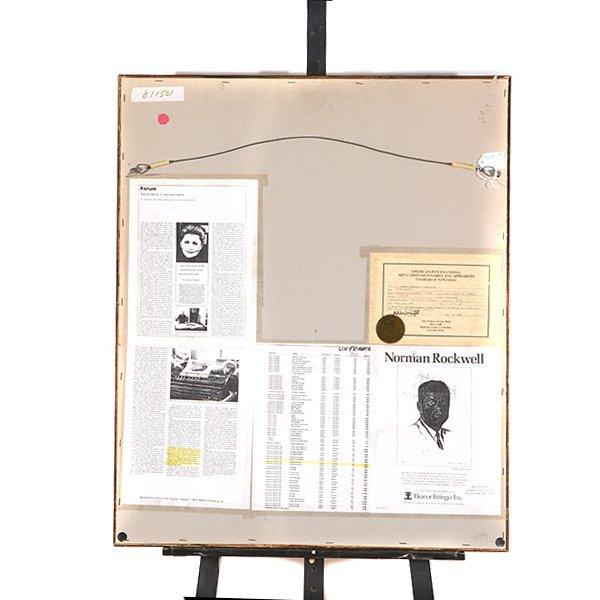 "Norman Rockwell ""John Kennedy"" lithograph - 8"
