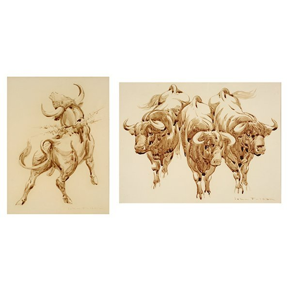 "John Fulton Short ""Bucking Bull"" & ""Three Bulls"