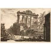 """Giovanni Battista Piranesi """"Veduta del Tempio detto"""