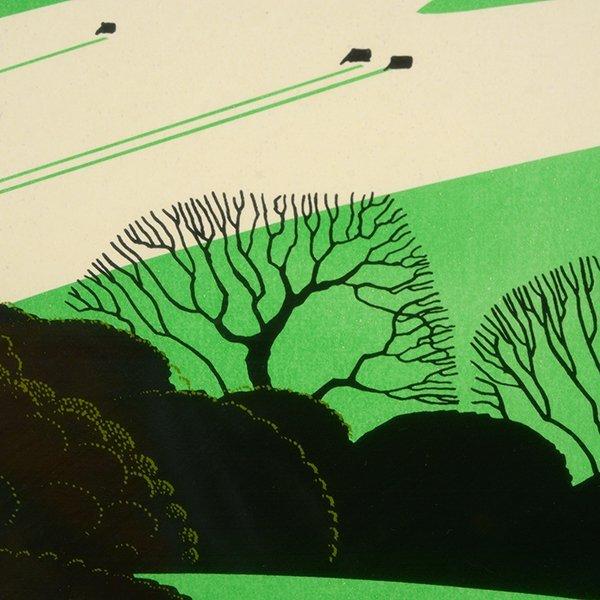 "Eyvind Earle ""Green Valley"" serigraph - 3"