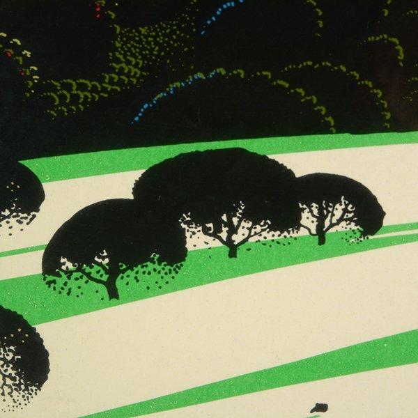 "Eyvind Earle ""Green Valley"" serigraph - 4"