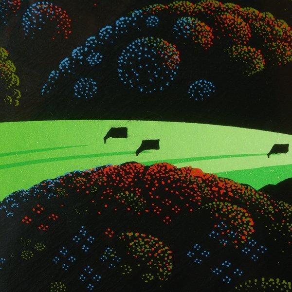 "Eyvind Earle ""Green Valley"" serigraph - 6"