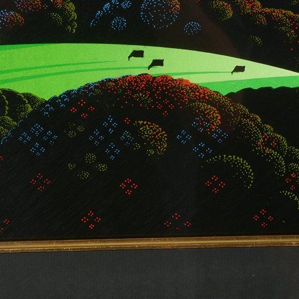 "Eyvind Earle ""Green Valley"" serigraph - 9"