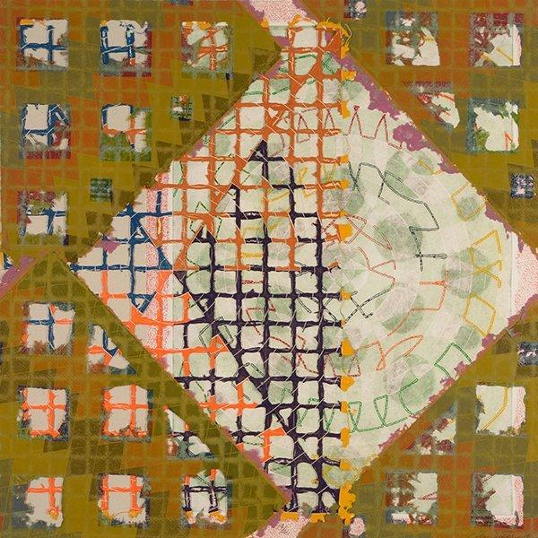 """Alan Shields """"Abstract"""" mixed media"""