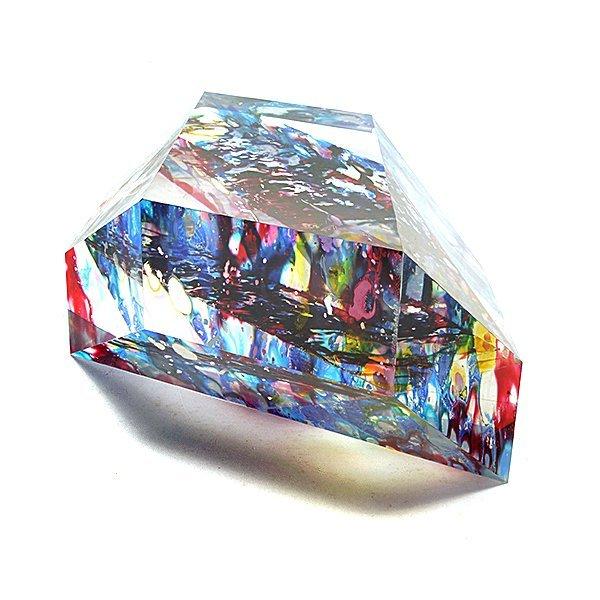 "American School ""Colorful Geometry"" acrylic sculpture - 2"
