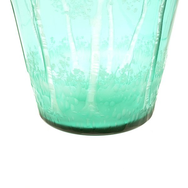 Steuben Glass Vase Engraved with Trees - 4
