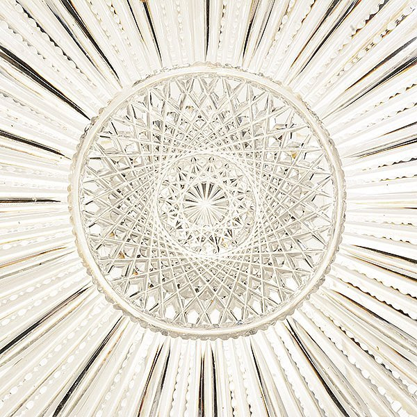 American Brilliant Cut Glass Circular Tray, Circa 1905 - 2