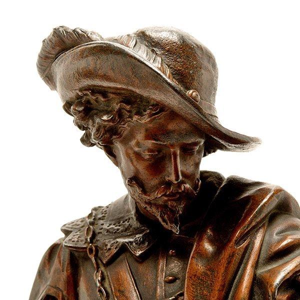 Pair of Patinated Bronze Figures of Renaissance - 10