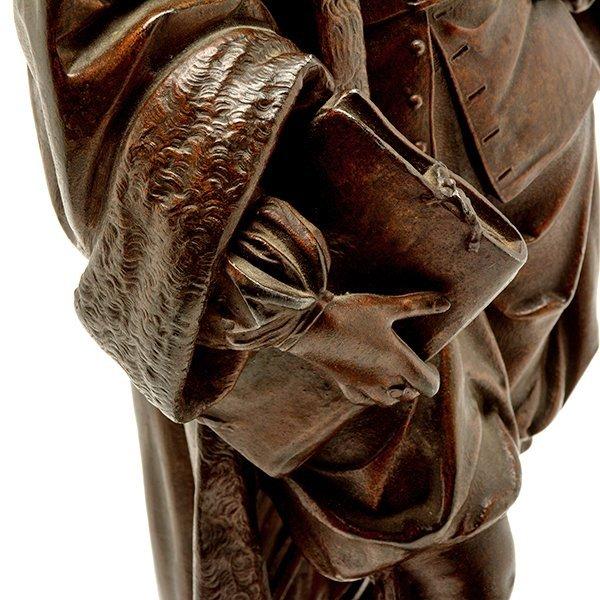 Pair of Patinated Bronze Figures of Renaissance - 7