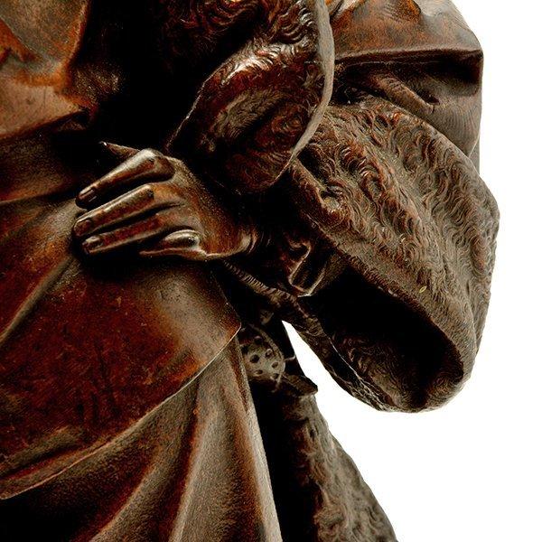 Pair of Patinated Bronze Figures of Renaissance - 8