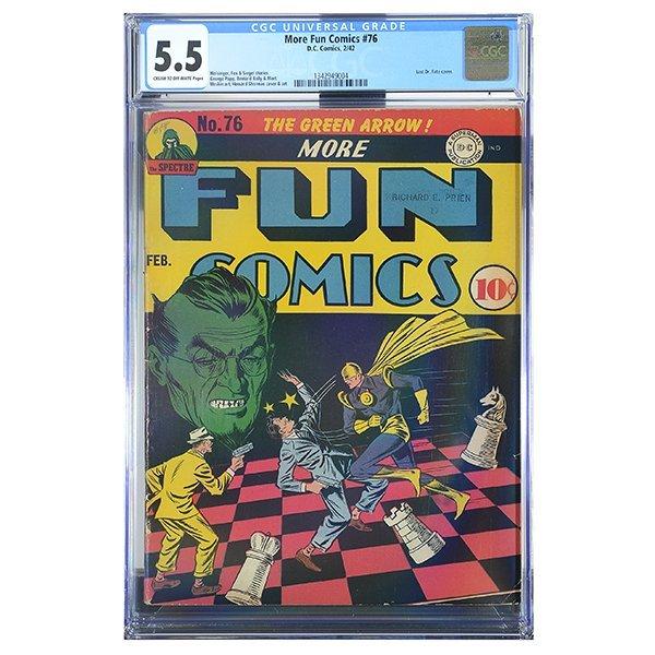 More Fun Comics #76 (DC, 1942) CGC Grade 5.5 FINE-,